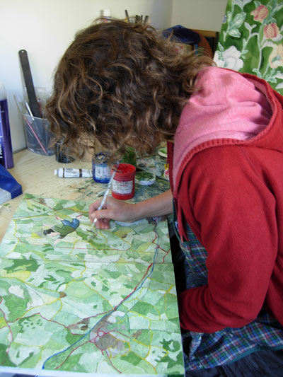 Painting-a-map